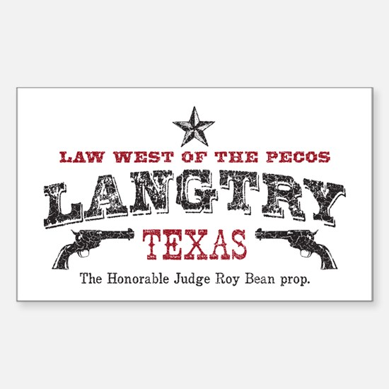 Langtry Rectangle Decal