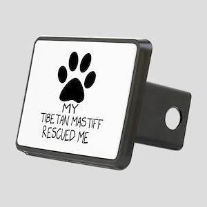 Tibetan Mastiff Rescued Me Rectangular Hitch Cover