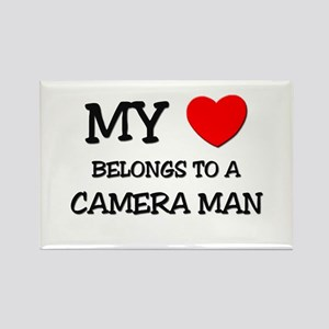 My Heart Belongs To A CAMERA MAN Rectangle Magnet