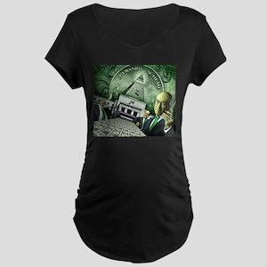 Pyramid Scheme Maternity Dark T-Shirt