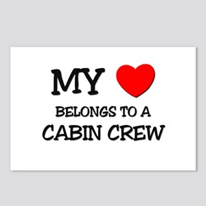 My Heart Belongs To A CABIN CREW Postcards (Packag