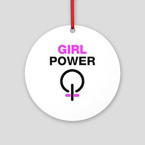 Girl Power Ornament (Round)