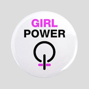 """Girl Power 3.5"""" Button"""