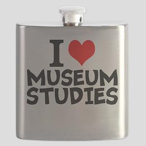 I Love Museum Studies Flask