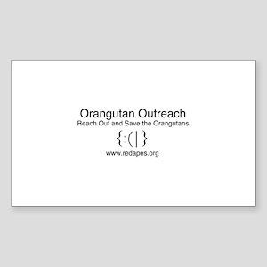 Orangutan Outreach Brand Sticker
