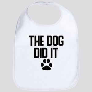 The Dog Did It Baby Bib