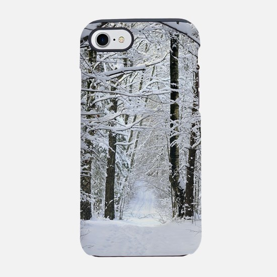 Winter Forest Path iPhone 7 Tough Case