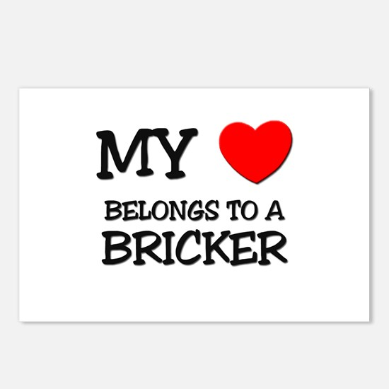 My Heart Belongs To A BRICKER Postcards (Package o