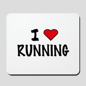 I LOVE RUNNING Mousepad