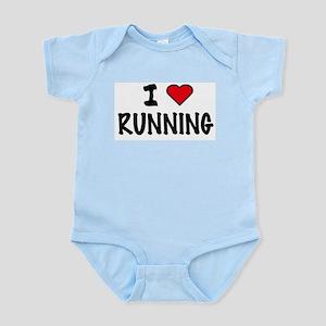I LOVE RUNNING Infant Creeper