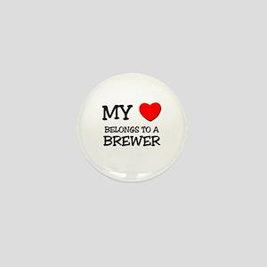 My Heart Belongs To A BREWER Mini Button