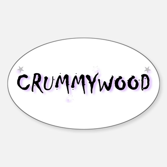 Crummywood! Oval Decal