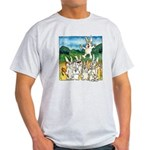 Bunny Rabbits Jump Light T-Shirt