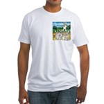 Bunny Rabbits Jump Fitted T-Shirt