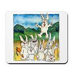 Bunny Rabbits Jump Mousepad