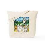 Bunny Rabbits Jump Tote Bag