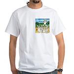 Bunny Rabbits Jump White T-Shirt