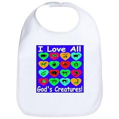 I Love All God's Creatures Bib