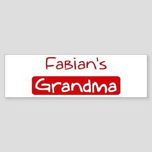 Fabians Grandma Bumper Sticker