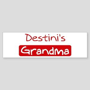 Destinis Grandma Bumper Sticker