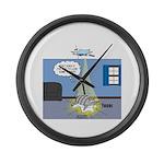 Fat Cat Large Wall Clock