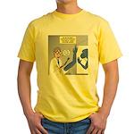 T-Rex Prosthetic Arm Yellow T-Shirt