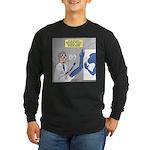 T-Rex Prosthetic Arm Long Sleeve Dark T-Shirt