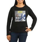 T-Rex Prosthetic Women's Long Sleeve Dark T-Shirt