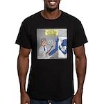 T-Rex Prosthetic Arm Men's Fitted T-Shirt (dark)