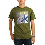T-Rex Prosthetic Arm Organic Men's T-Shirt (dark)