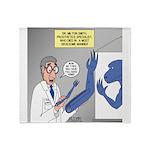T-Rex Prosthetic Arm Throw Blanket