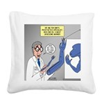 T-Rex Prosthetic Arm Square Canvas Pillow