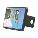 Chickadee on Feeder Rectangular Hitch Cover