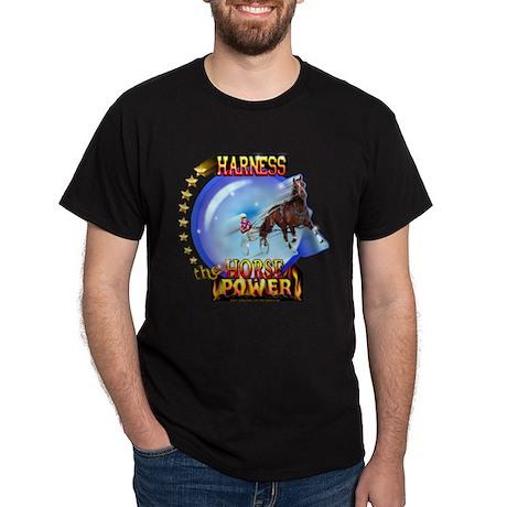 Horse Power Orb Black T-Shirt