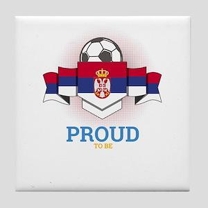 Football Serbs Serbia Soccer Team Spo Tile Coaster