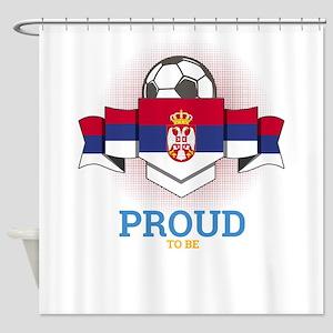 Football Serbs Serbia Soccer Team S Shower Curtain