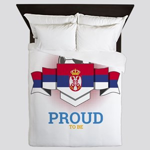 Football Serbs Serbia Soccer Team Spor Queen Duvet