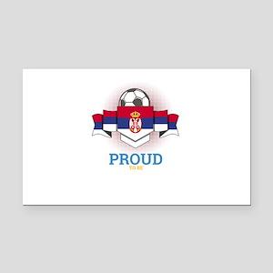 Football Serbs Serbia Soccer Rectangle Car Magnet