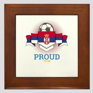 Football Serbs Serbia Soccer Team Spor Framed Tile
