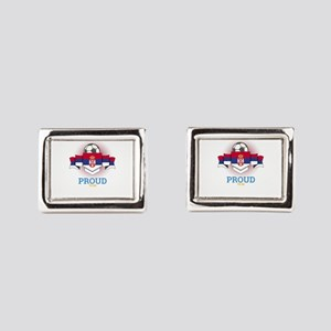 Football Serbs Serbia Soccer Rectangular Cufflinks