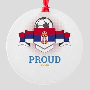 Football Serbs Serbia Soccer Team S Round Ornament