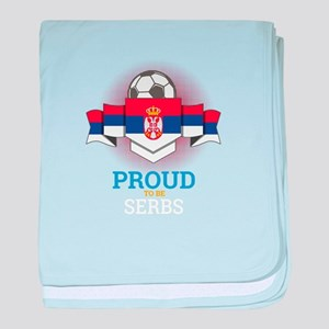 Football Serbs Serbia Soccer Team Spo baby blanket