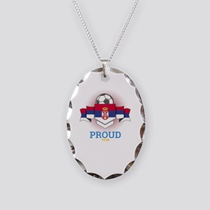 Football Serbs Serbia Soccer T Necklace Oval Charm