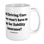 Self Driving Cars Large Mug