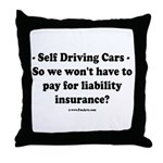 Self Driving Cars Throw Pillow