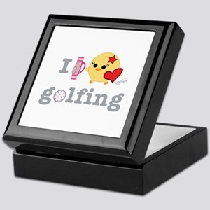 I Love Golf Keepsake Box