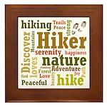Hiker Word Cloud Framed Tile