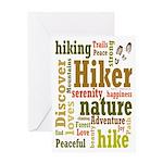 Hiker Word Cloud Greeting Cards