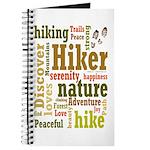 Hiker Word Cloud Journal