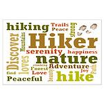 Hiker Word Cloud Posters